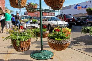 Dubuque Farmers' Market Hanging Baskets